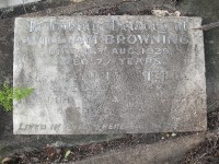headstone of William & Fanny Browning