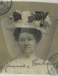 Minnie Gorkong c 1909