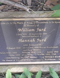 Memorial at base of William Jurd Headstone