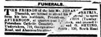 Funeral Notice: Jonas Greatrix