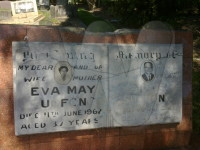 Headstone: Siddie and Eva May Sue Fong