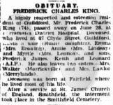 Obituary - Frederick Charles King