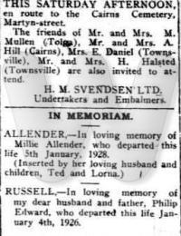 Funeral notice - Elizabeth Daniel