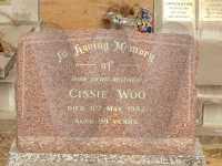 Headstone of Cissie Woo