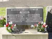 Headstone of George & Gladys Woo