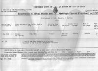 Birth Certificate of Francis Collier